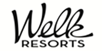 logo for Welk Resorts, a collection of luxury resorts with premier accommodations.